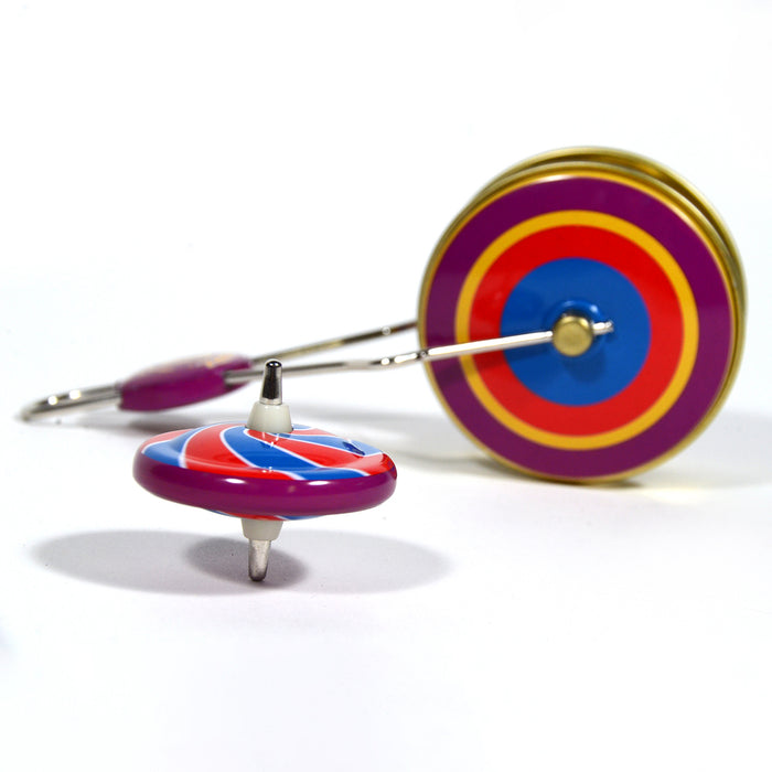 Whirl-O, regal games, classic tin toys, classic tin toy, classic games, purple whirl-o