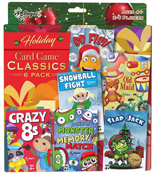 Holiday Edition 6 Pack Classic Kids Card Games