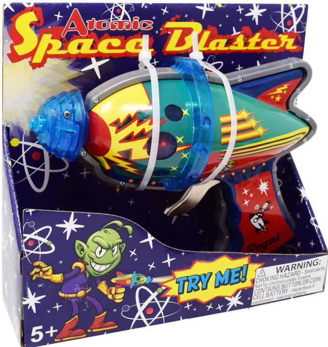 Classic Tin Space Blaster with Light up LED and Sparks