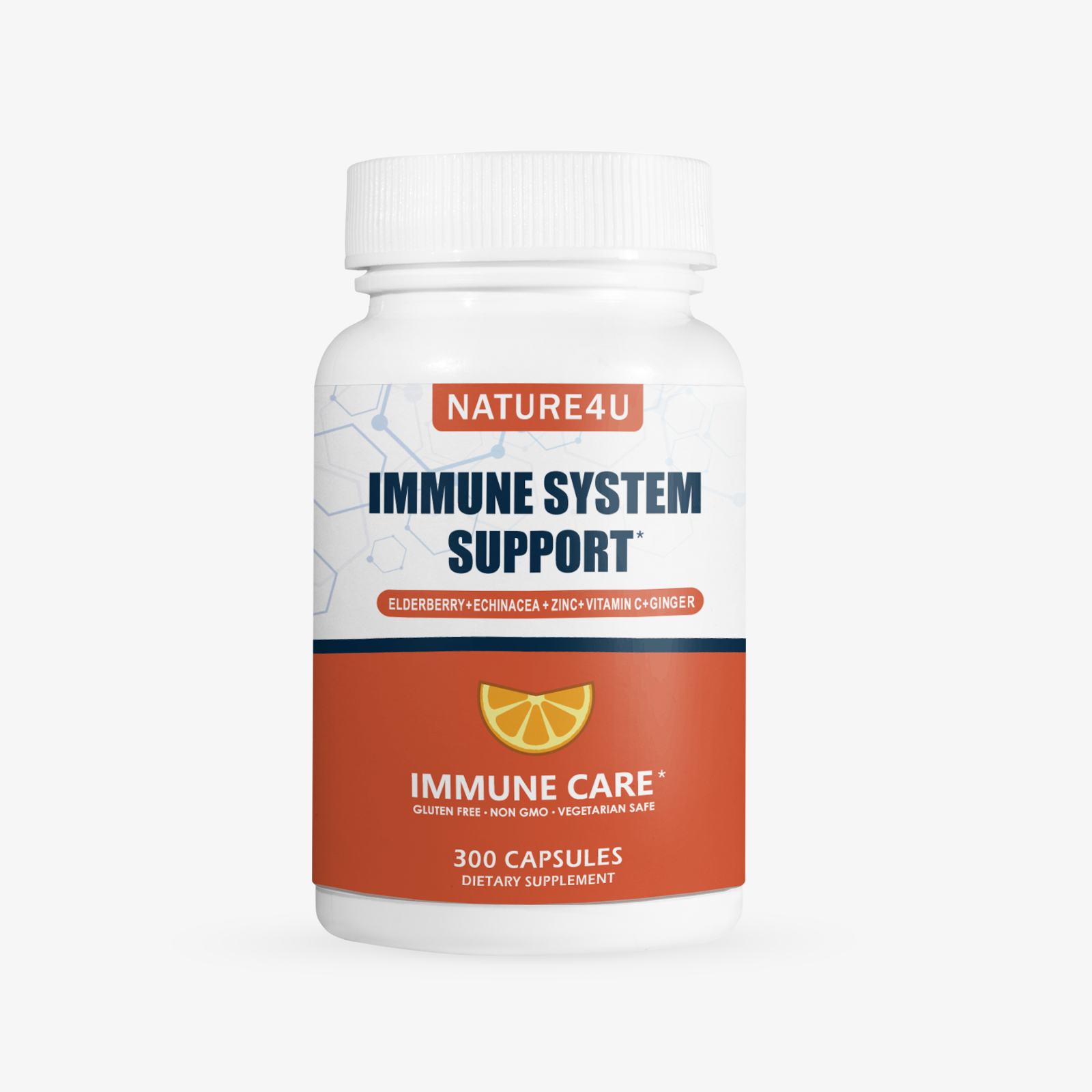 Elderberry Vitamin C + Zinc Immune Support  300 Capsules