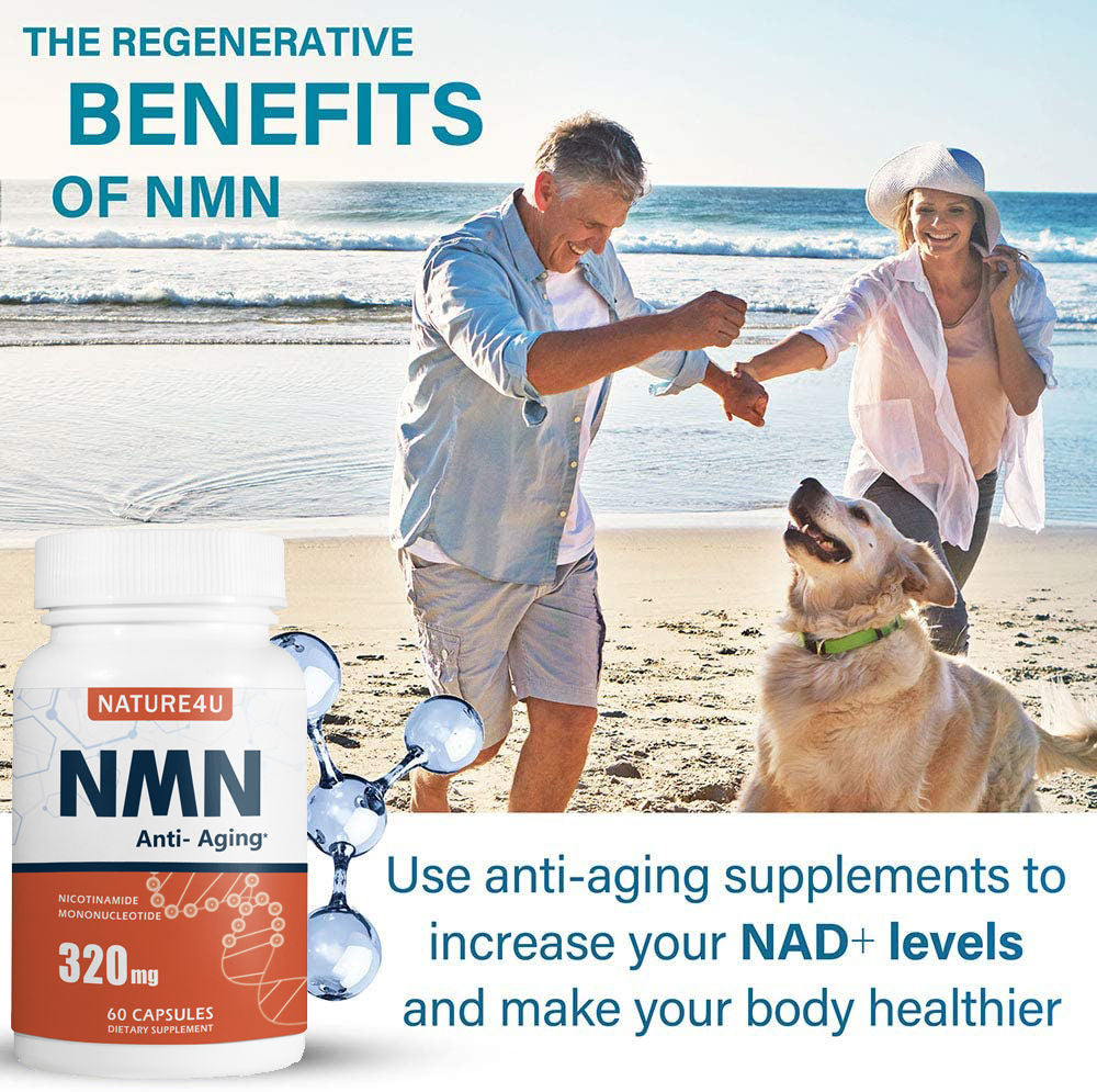 NMN Stabilized Form 320mg NAD+ Supplement Capsules