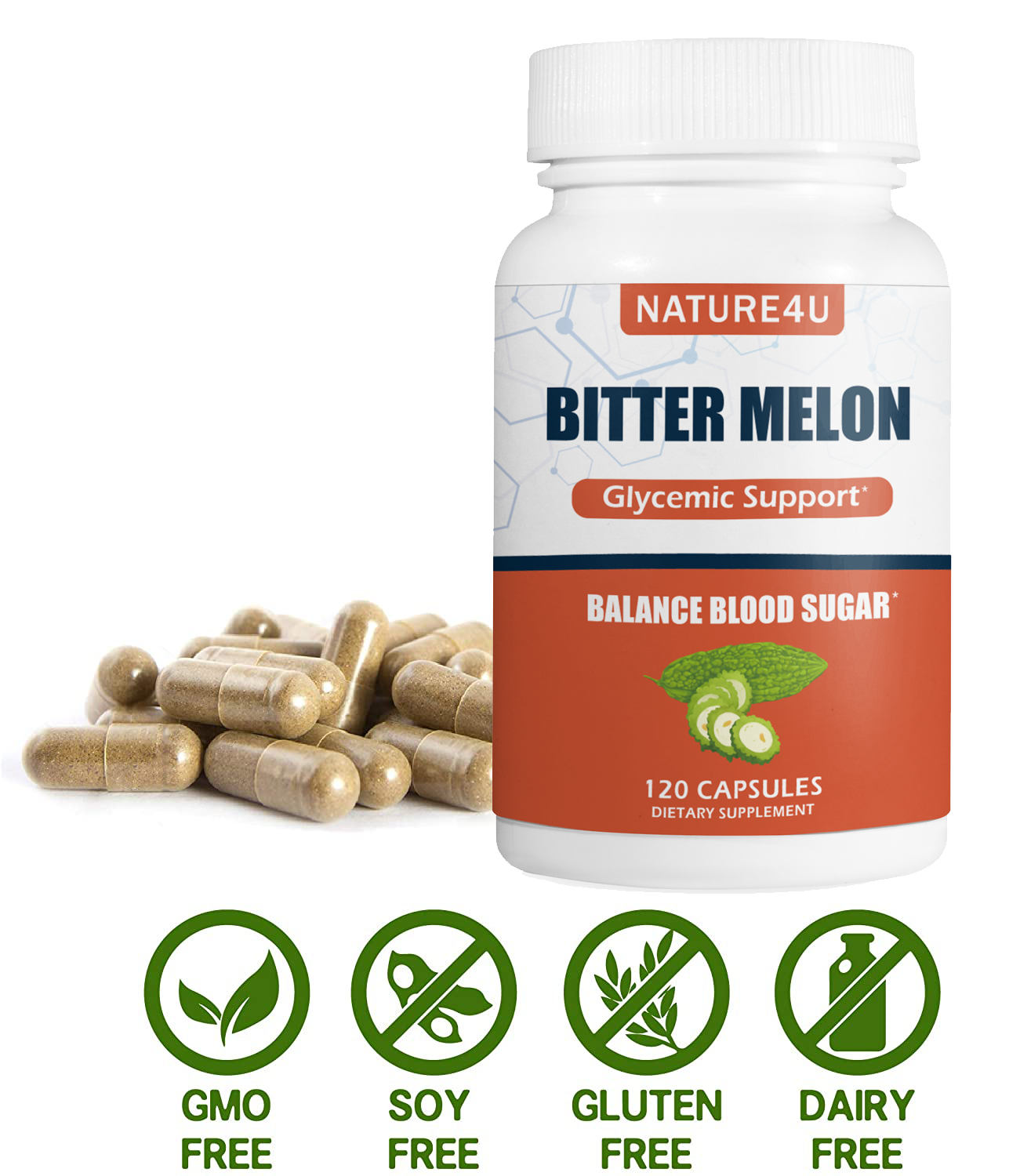 Bitter Melon Blood Sugar Support 450mg 120 Capsules