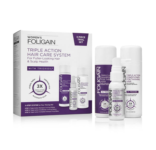 FOLIGAIN WOMEN'S TRIPLE ACTION Complete System (3-Piece Starter Pack)