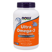 Now Foods - Ultra Omega-3 (Fish Gelatin), 180 Fish Softgels