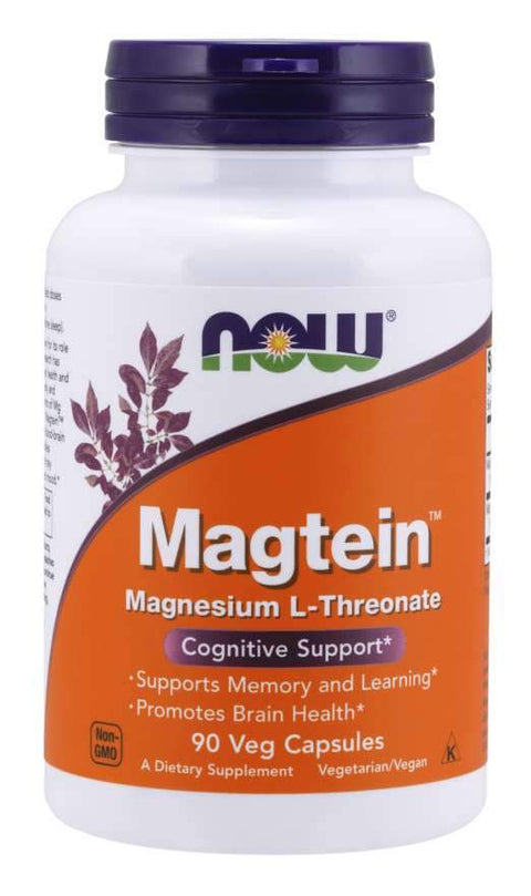 Now Foods - Magtein™, Cognitive Support, 90Veg Capsules