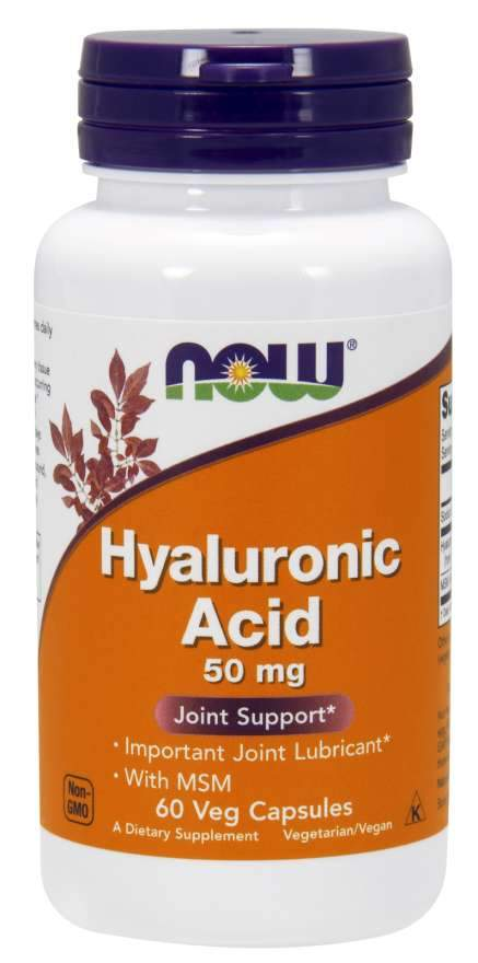 Now Foods - Hyaluronic Acid with MSM Veg Capsules, 50mg, 60 VCaps
