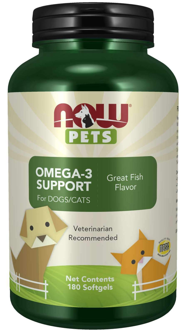 Now Foods - Omega-3 Support Softgels for Dogs & Cats - 180 Softgels