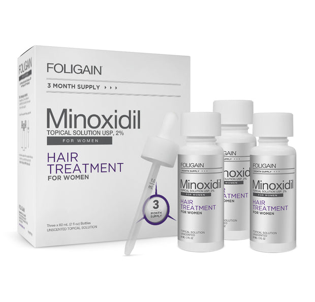 Foligain - Minoxidil 2% Hair Regrowth NEW Treatment For Women 3 Month Supply