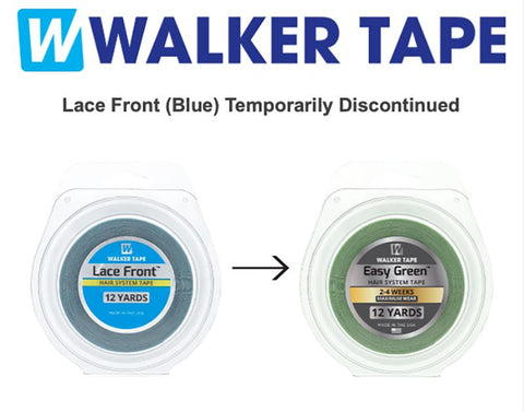"Walker Tape - Lace Front, Hair Tape Adhesive 3/4"" x 12yds - Hairpiece, Wig, Toupee"