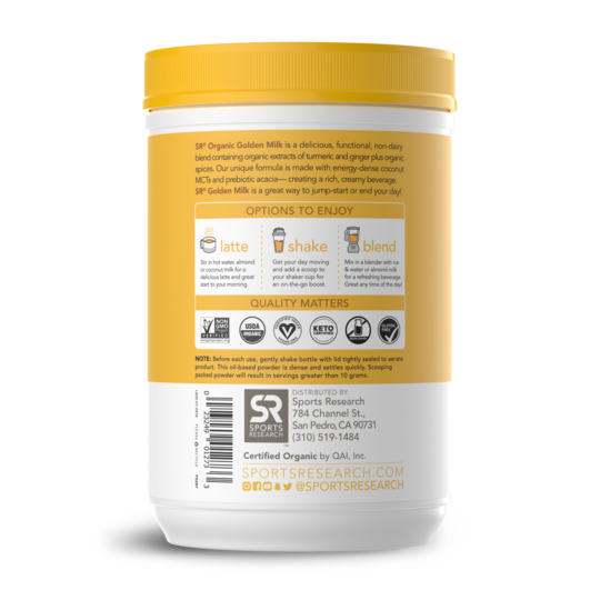 Sports Research - Organic Turmeric Golden Milk (300g)