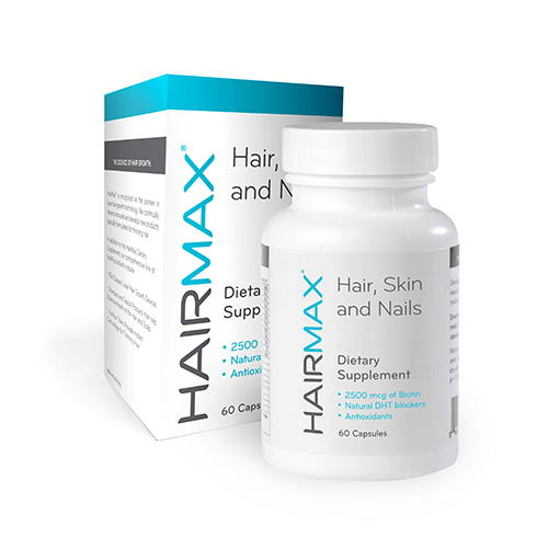 Hairmax - Hair, Skin & Nails, Hair Regrowth Supplements 60 Caps, Hair Loss Treatment