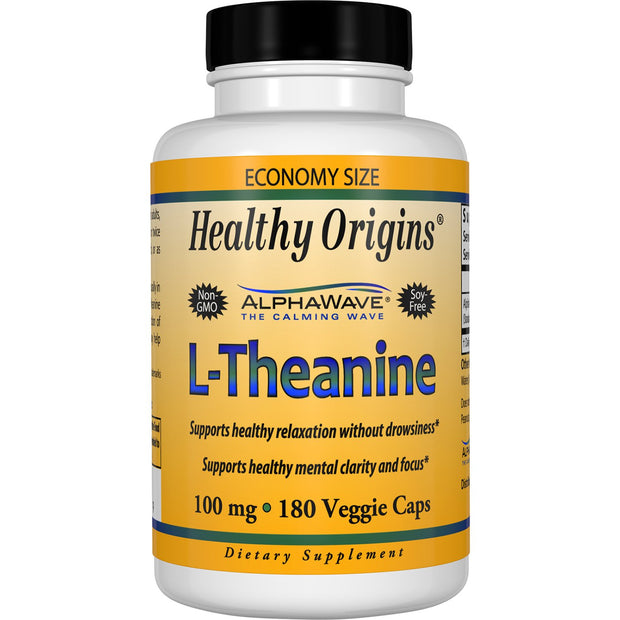 Healthy Origins - L-THEANINE (ALPHAWAVE®), 100MG, 2 Sizes