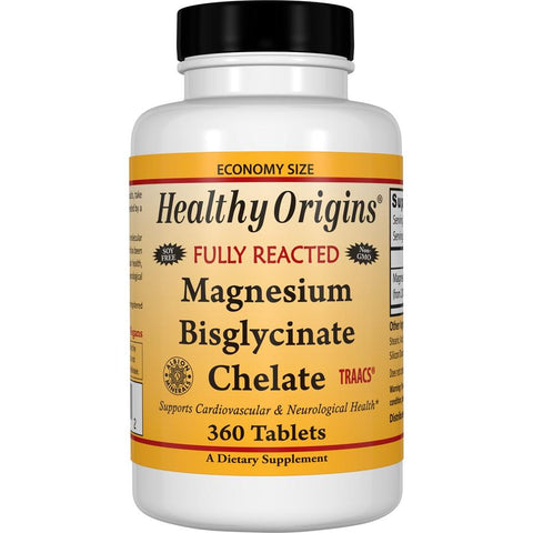 Healthy Origins - MAGNESIUM BISGLYCINATE CHELATE (TRAACS®), 2 Sizes