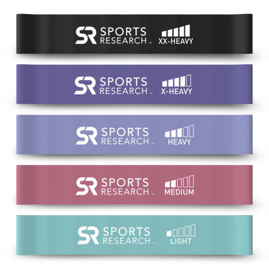 Sports Research - Mini Loop Bands, 5 Colour Variety Pack