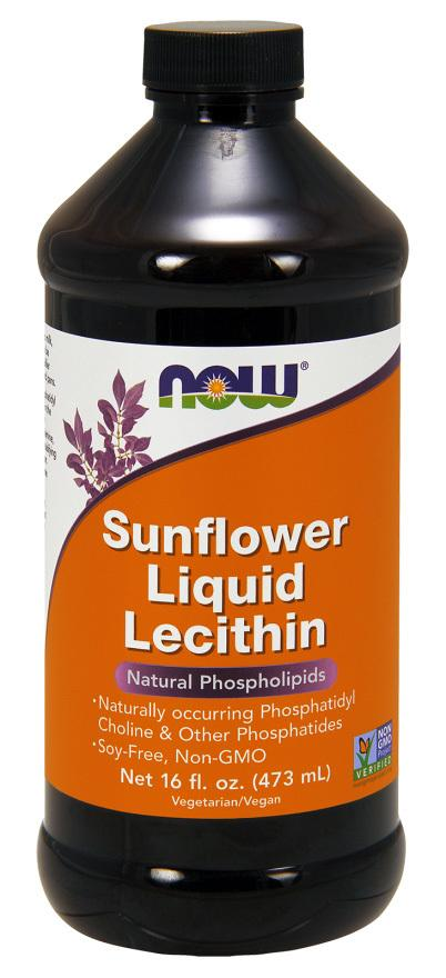 Now Foods Sunflower Liquid Lecithin 16 fl oz (473 ml) VEGAN