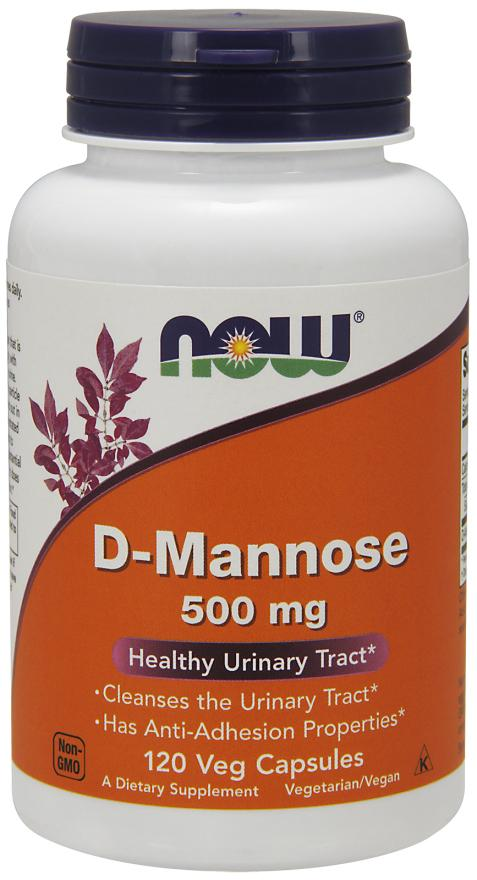 Now Foods - D-Mannose 500 mg, 120 Veg Caps