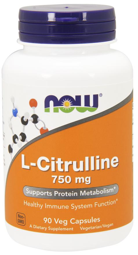 Now Foods - L-Citrulline 750 mg, 90 Veg Caps