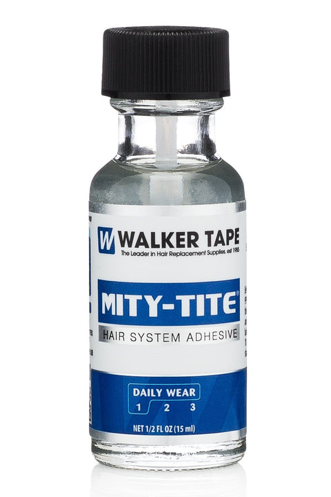 Walker Tape - Mity-Tite Adhesive Brush On - Wigs, Lace Fronts and Toupee - 3 Sizes