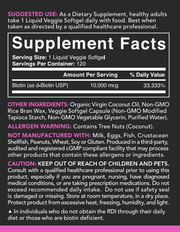 Sports Research - BIOTIN WITH COCONUT OIL, 10,000mg, 120 Veggie SoftGels