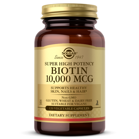 Solgar - Biotin 10,000mcg, Supports Healthy Hair, Skin & Nails, 100 VCaps