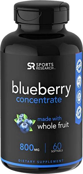 Sports Research - BLUEBERRY CONCENTRATE, 800mg, 60 SoftGels