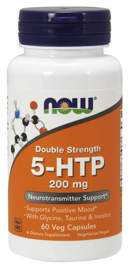 Now Foods 5-HTP 200mg 60 Caps. Double Strength Single