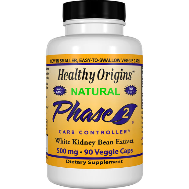 Healthy Origins - PHASE 2- STARCH NEUTRALIZER, 500MG, 2 Sizes