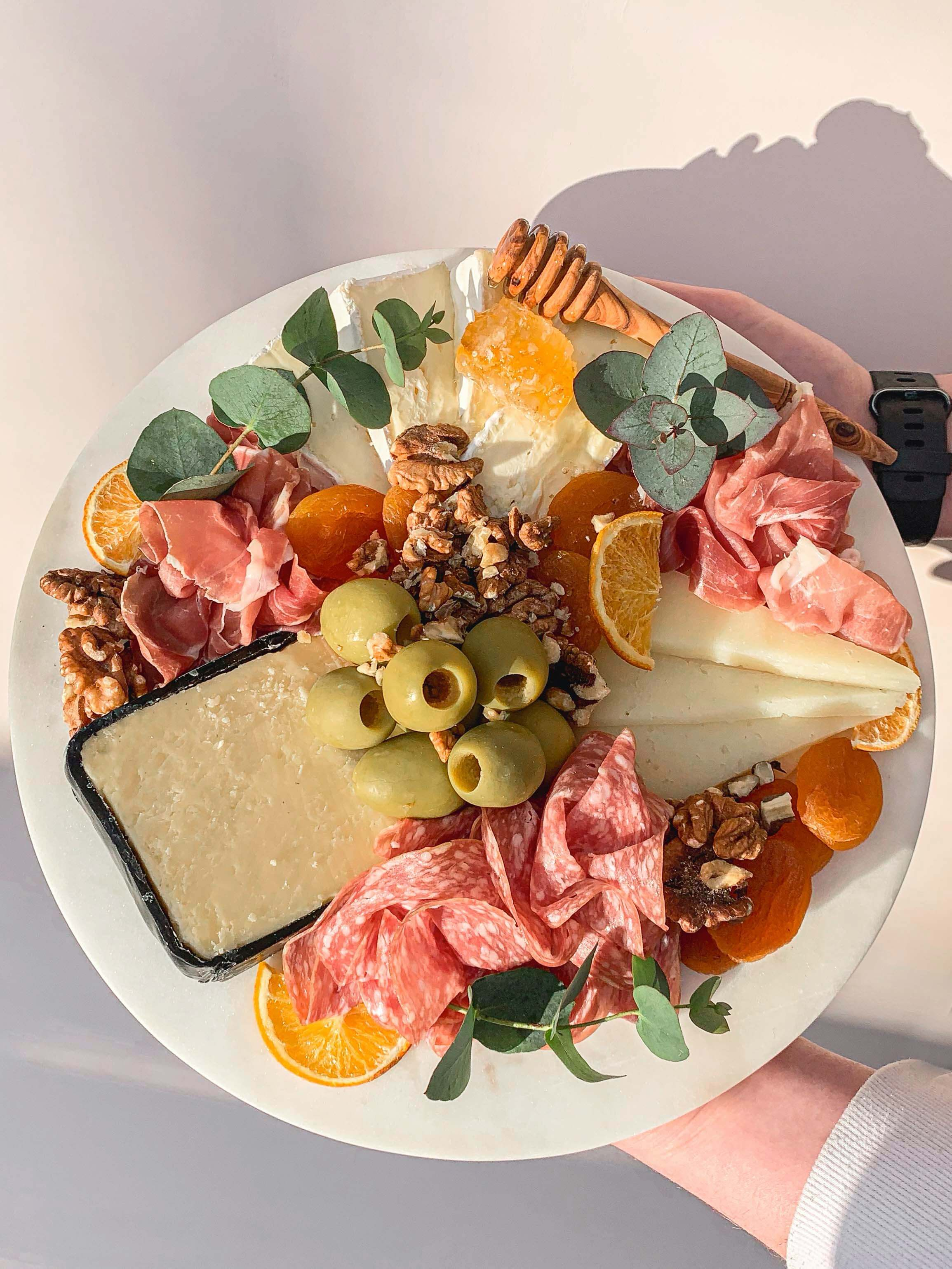 DIY platter, cheese charctuerie, antipasti, nuts olives kit available in Edinburgh