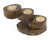 Teak candle holder - 3 step, Thailand - farangshop-co