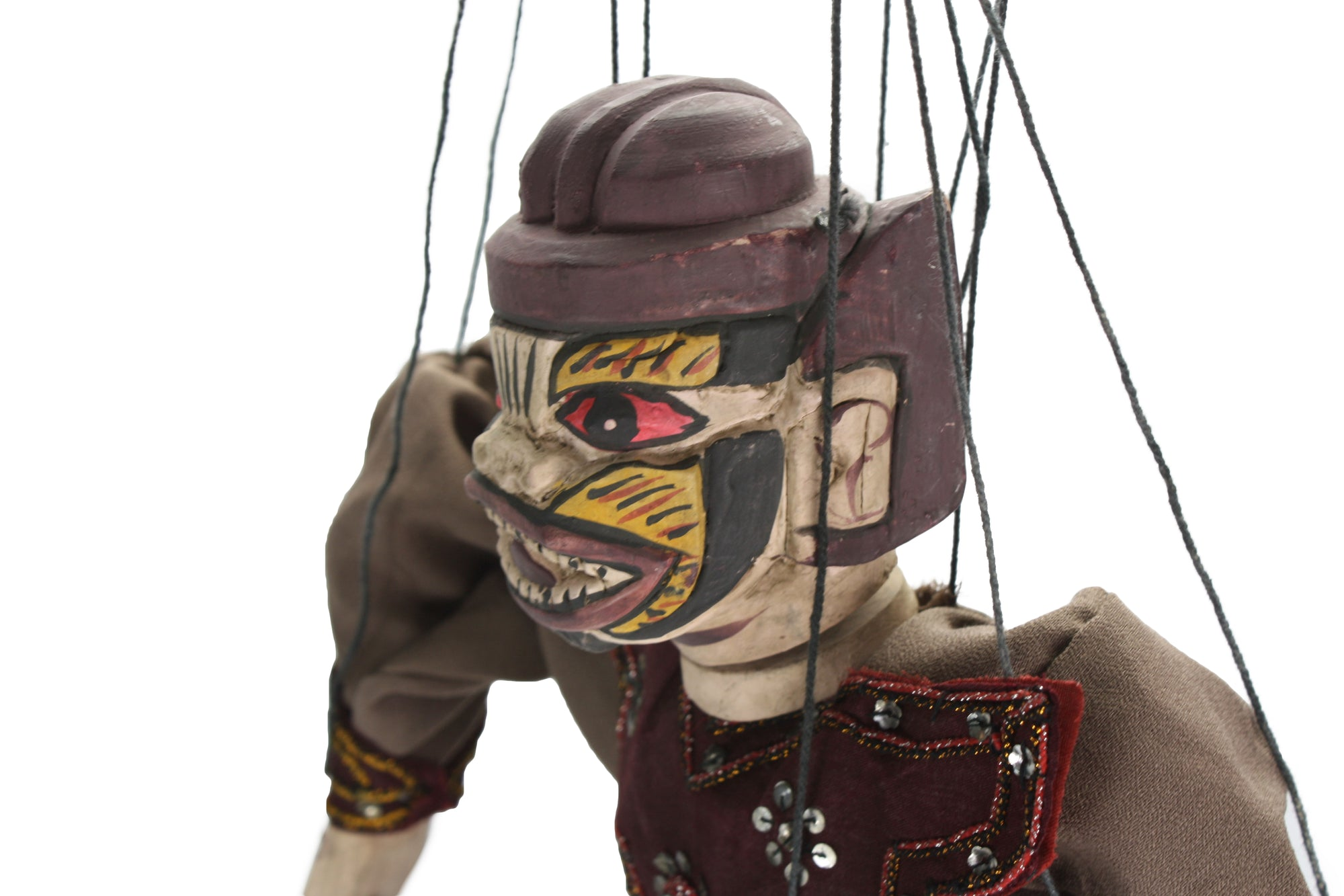 Traditional Burmese Puppet Marionette, Large Size - Hanuman - farangshop-co