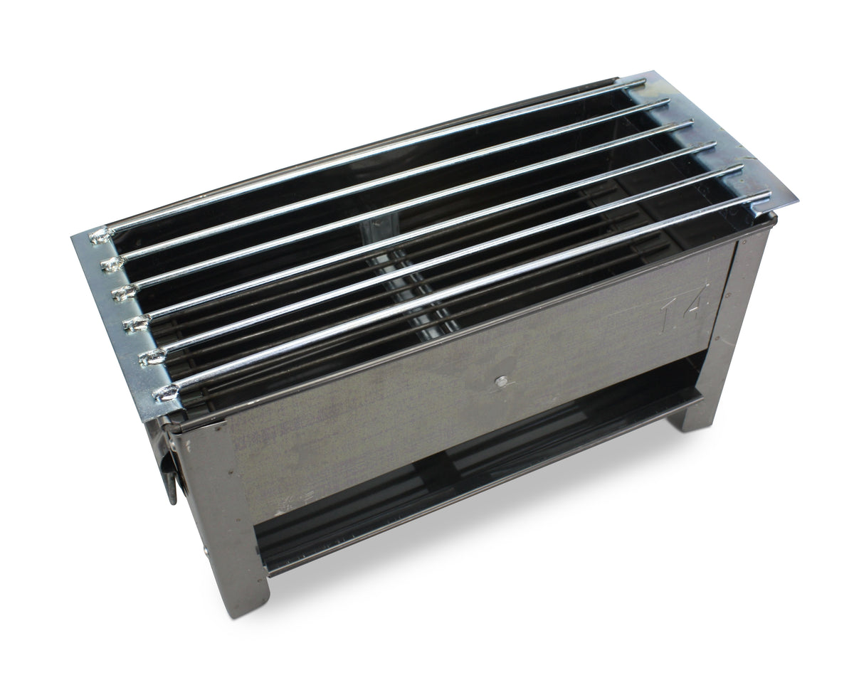 Traditional Metal Thai Barbecue Grill with bar supports - 14 inch size, 35cm - farangshop-co