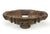Wheel axle bowl on stand, antique Burmese teak wood - large - farangshop-co