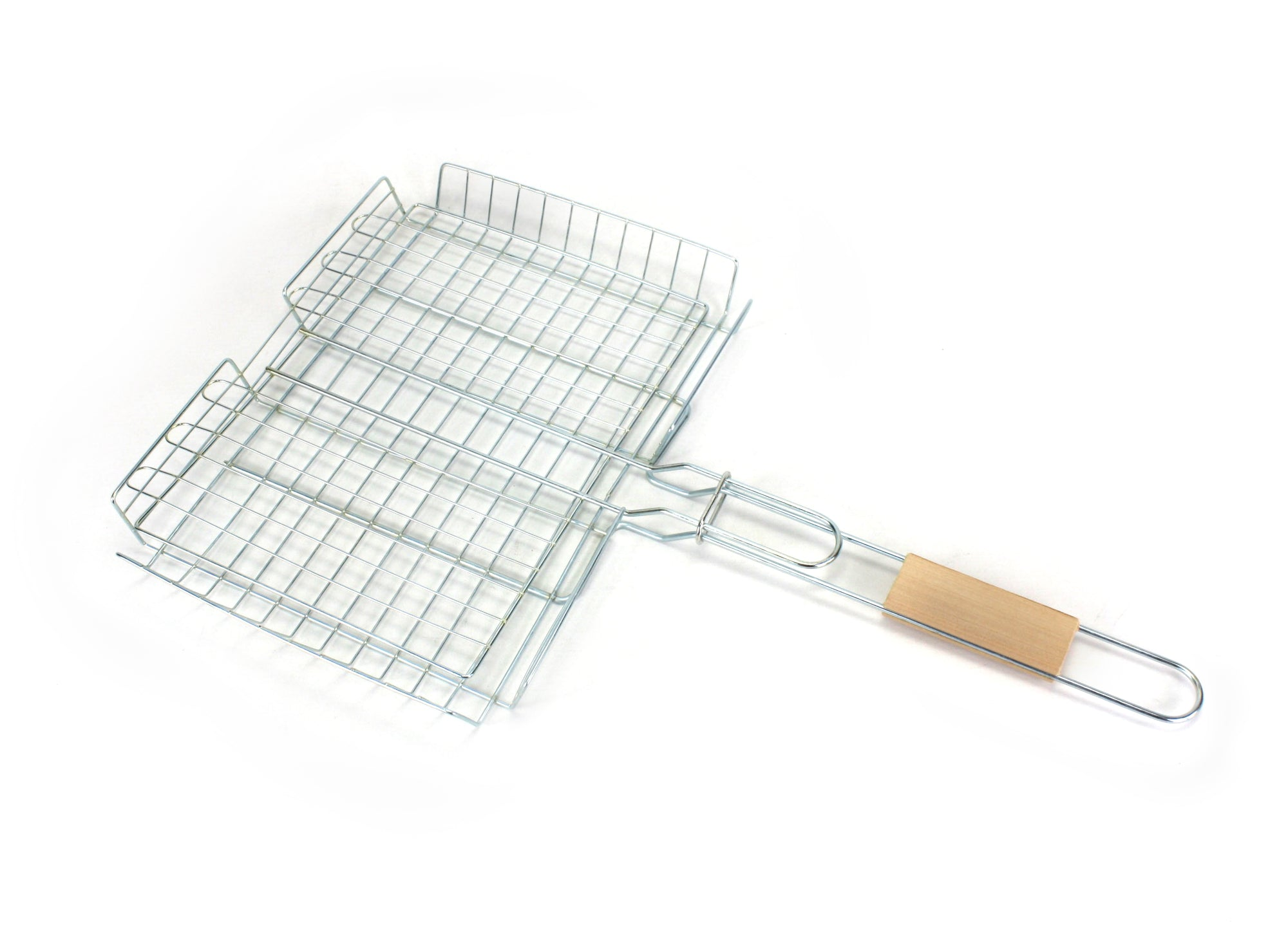 Barbecue Grill basket cooking utensil, 3.5cm capacity, 48cm x 30cm. - farangshop-co