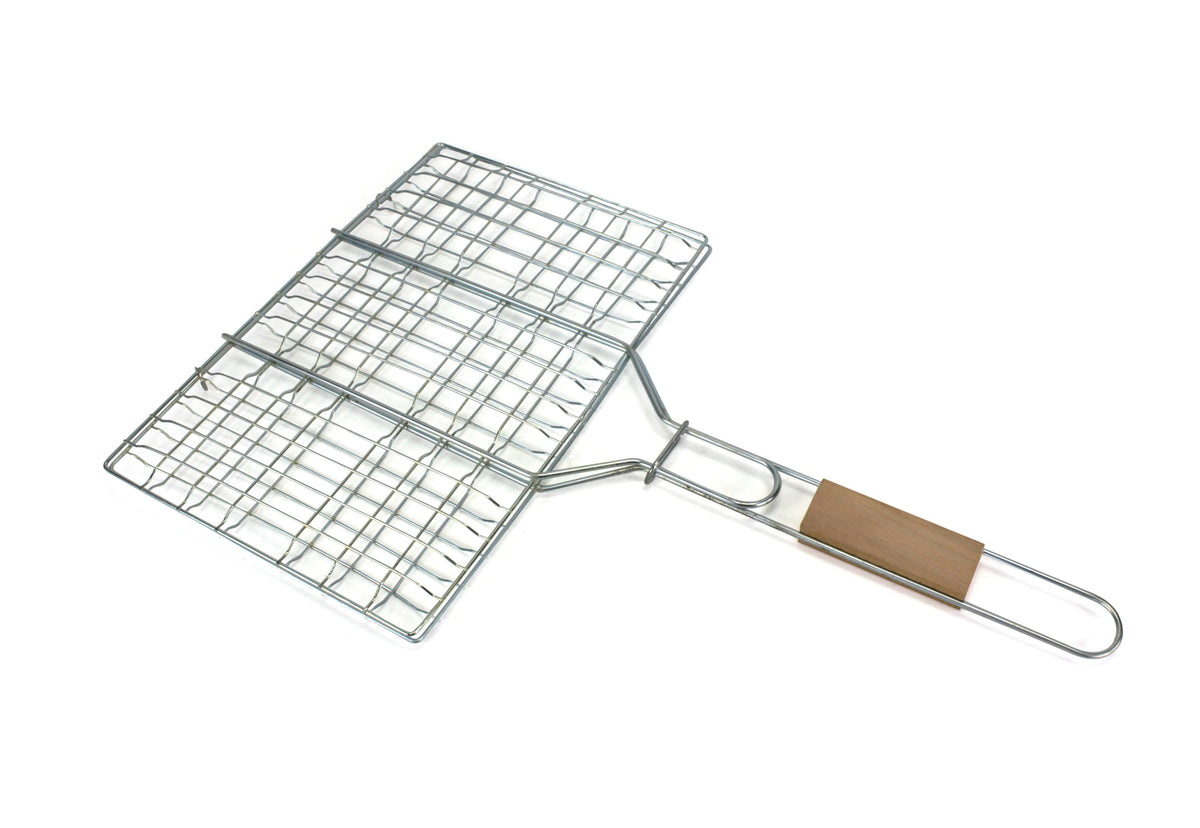 Barbecue Grill basket cooking utensil, 1.5cm capacity, 46cm x 30cm. - farangshop-co