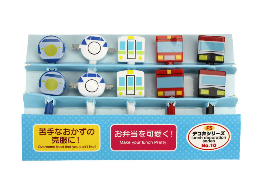 Cute Japanese Food Picks for Kids Bento Box Lunch - Transport Designs - farangshop-co