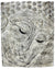 Buddha face panel, Textured Stone Effect finish, 51cm high - farangshop-co