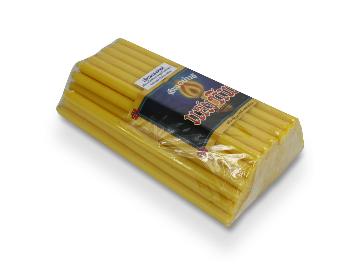Pack of Thai Temple Candles - medium size, 18cm - farangshop-co
