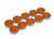 Pack of 10 Buddhist votive tealights - orange colour. - farangshop-co