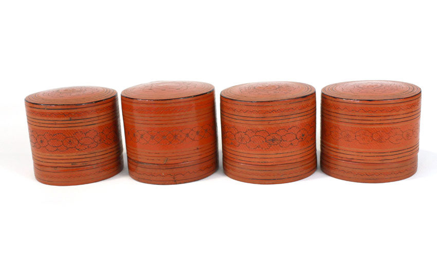 Burmese betel box lacquerware, old - farangshop-co