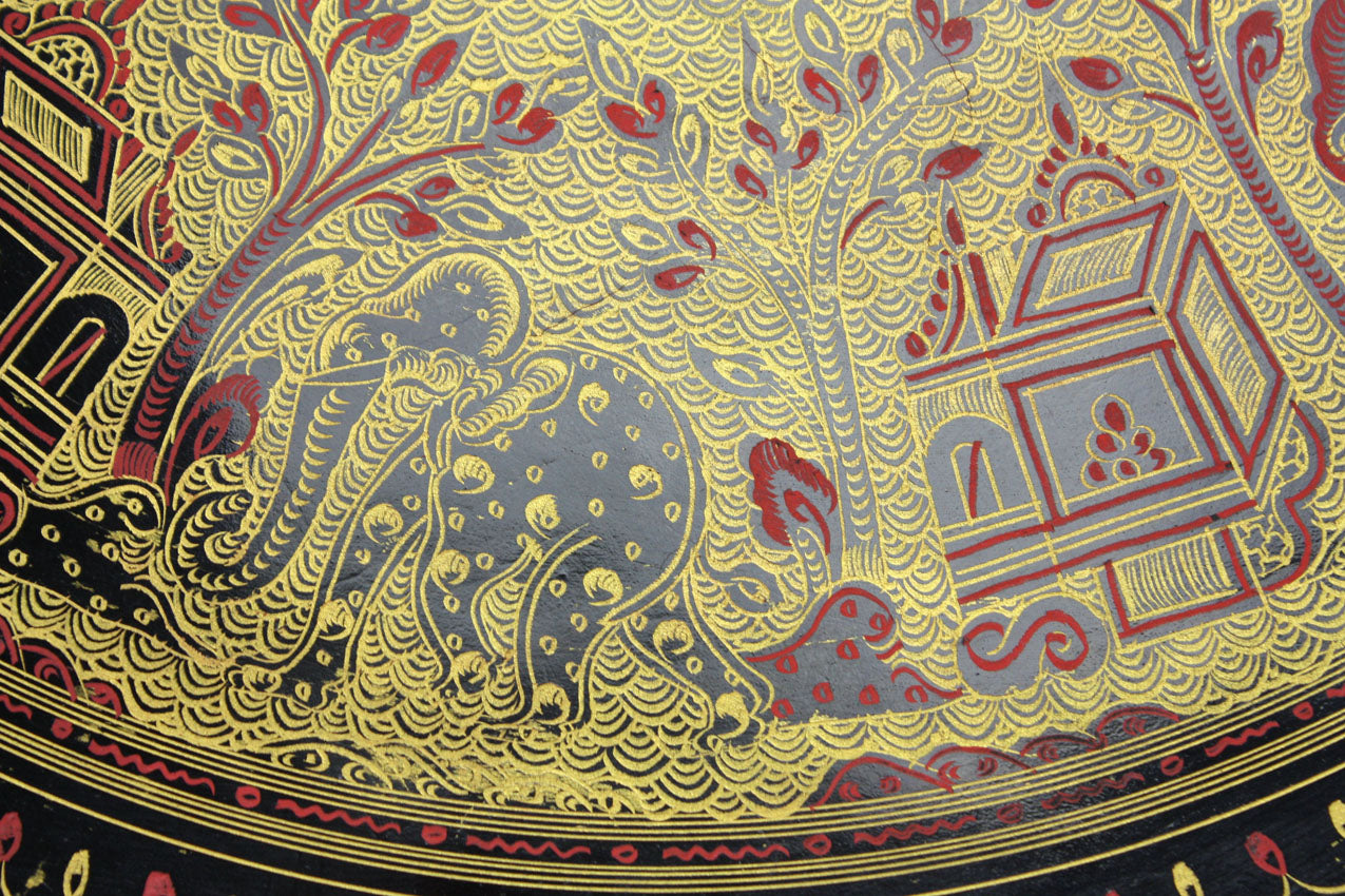 Burmese Lacquerware Table - farangshop-co