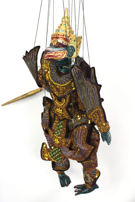 Traditional Burmese Puppet Marionette, X-Large Size - Garuda - farangshop-co