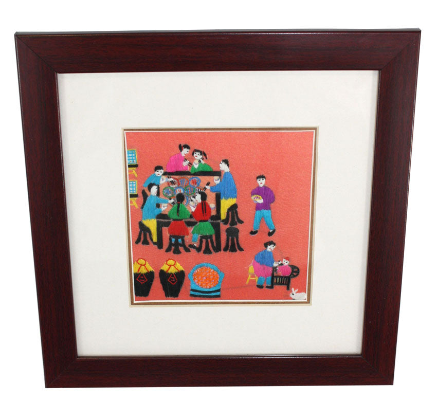 Chinese hand embroidered picture - farangshop-co