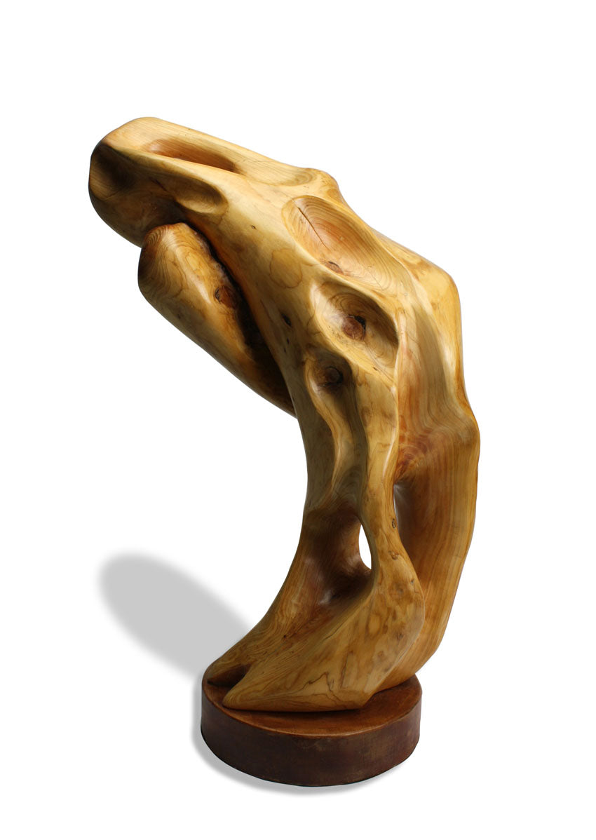 Wooden sculpture - Emerging Form no. 4, 64cm high. - farangshop-co