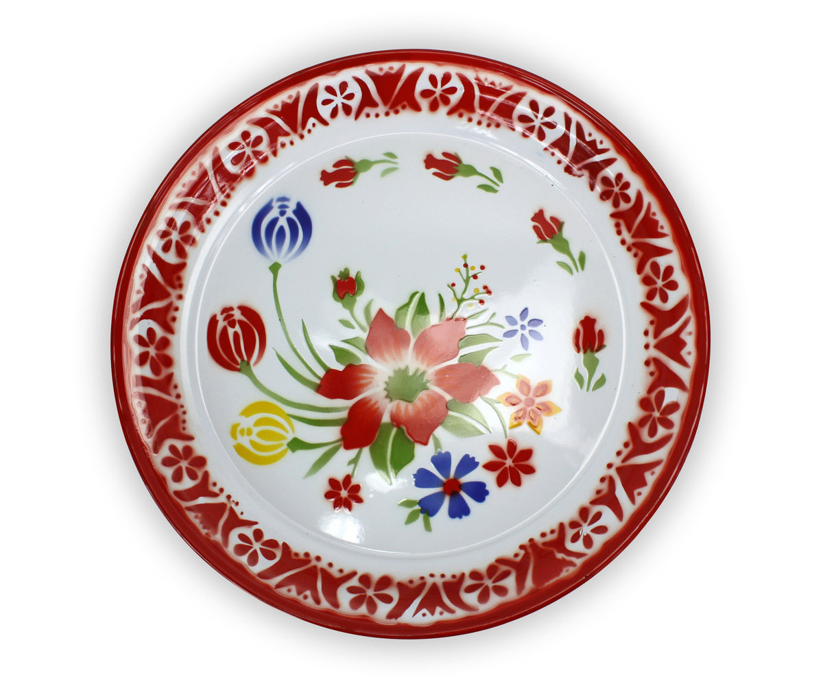 Thai Tard - traditional enamel serving plate; 2 sizes - farangshop-co