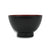 Japanese Lacquer Rice Bowl-Soup Bowl, 12cm, Black with Red Interior - farangshop-co
