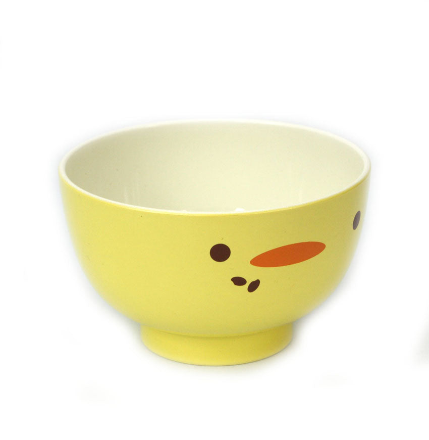 Japanese Lacquer Rice Food Bowl for Kids, Chick Design - farangshop-co