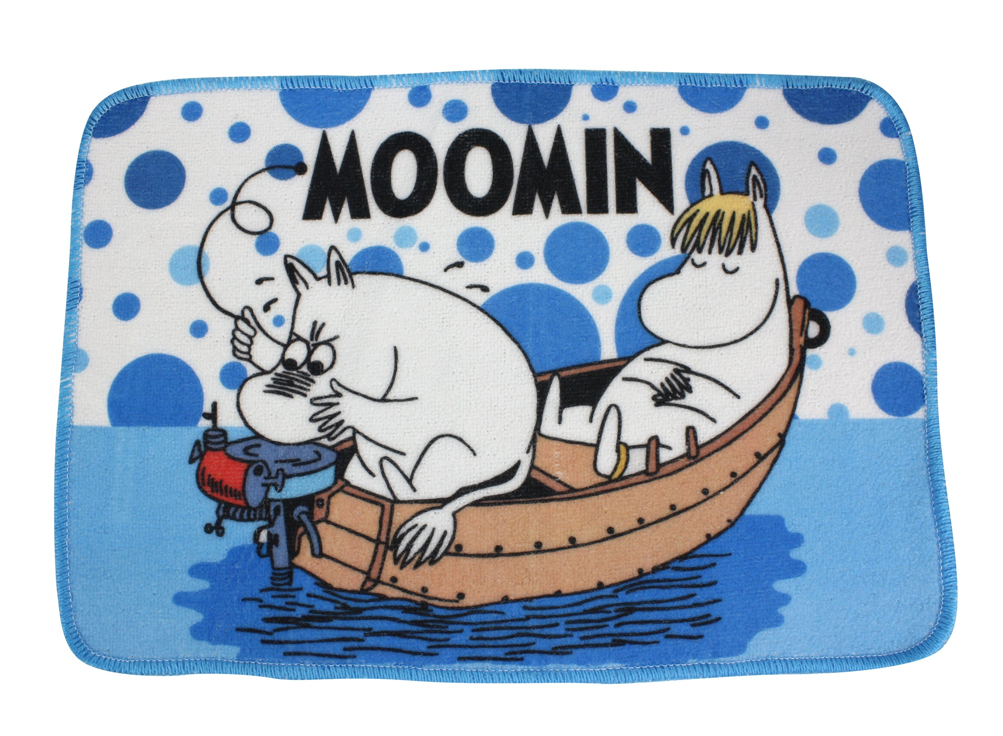Moomin Bath Mat, Floor Mat 35cm x 50cm. All at sea. - farangshop-co