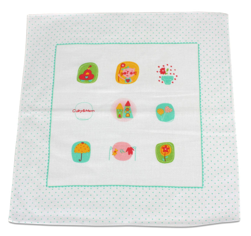 5-Pack of Cotton Handkerchiefs - Squares for Children and Adults - Style NN9 - farangshop-co