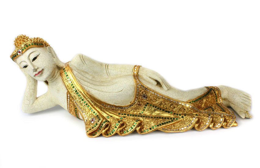 Thai Lanna style Reclining Buddha, Large approx 80cm long, SLP609 - farangshop-co