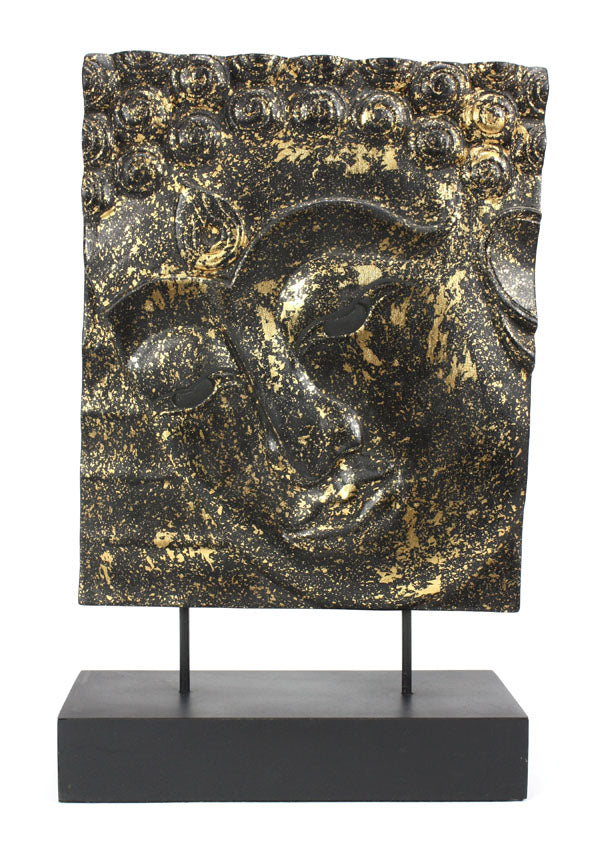 Buddha face panel on stand - medium - choice of 10 finishes - farangshop-co